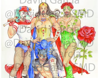 David Garcia Various Characters Limited Edition Signed & Numbered Cosplay Artwork Print