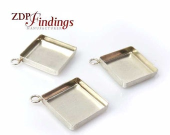 Sterling plata blanco conectores para pegar 1122 6mm 8mm cristales Rivoli
