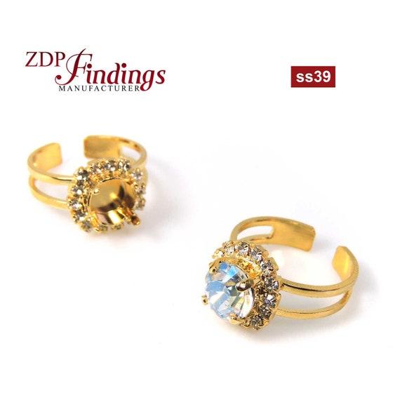 10pcs x ss39 Earring Setting base avec argent sterling 925 post