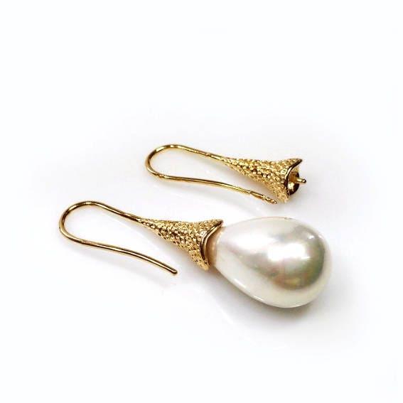 20mm plaqué or de Micron de belles boucles d'oreilles ou élégant et classique pour le collage de perles ou d'oreilles de perles (KPMG1) 9f54d1