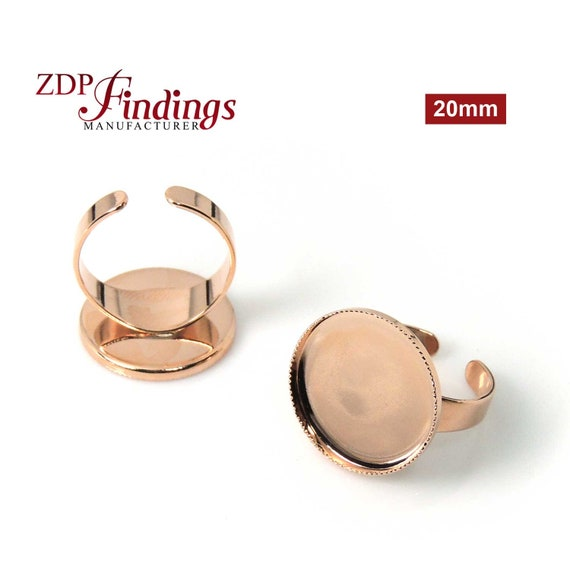 4pcs x Round 16mm Quality Cast Ring Bezel Cups For Setting Choose your Finish 8482V