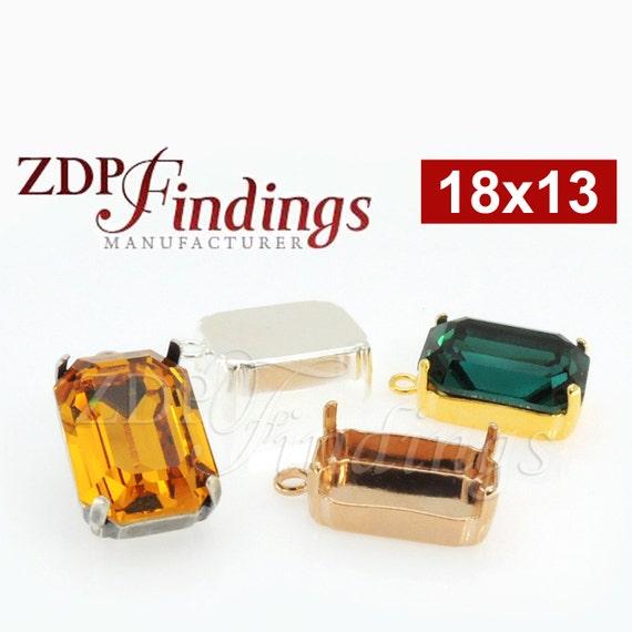 35e33ea5124b29 6pcs x Octagon 18x13mm Bezel Pendant For Setting fit Swarovski
