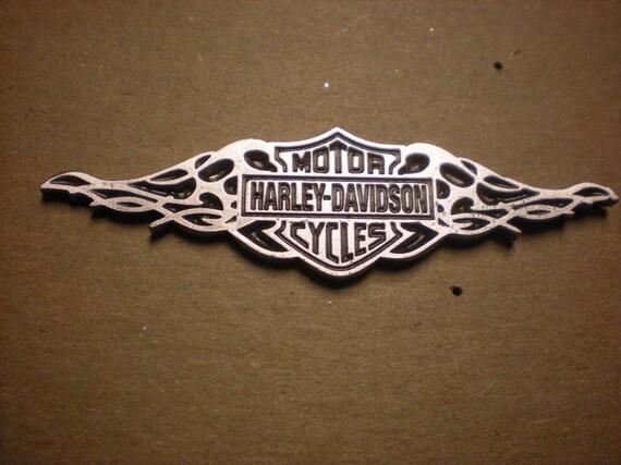 OLD SCHOOL vintage harley davidson pin. escudo con diseño trible