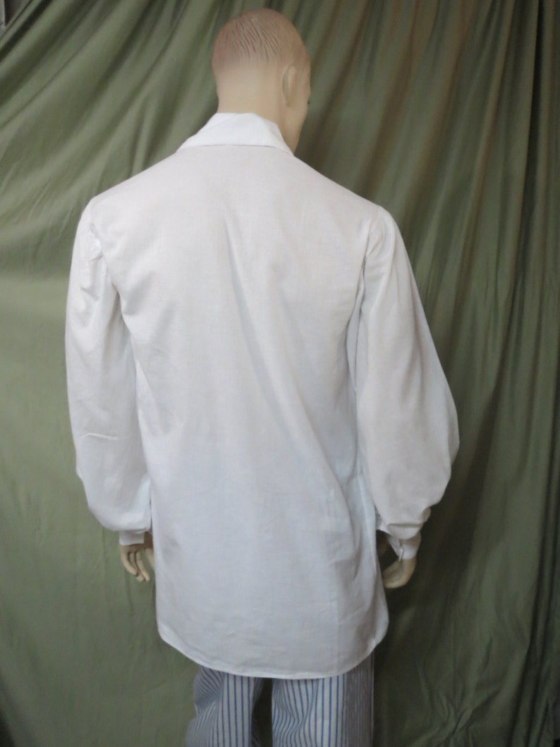 Pirate Shirt Renaissance SCA POTC White Custom Your Size Free Shipping