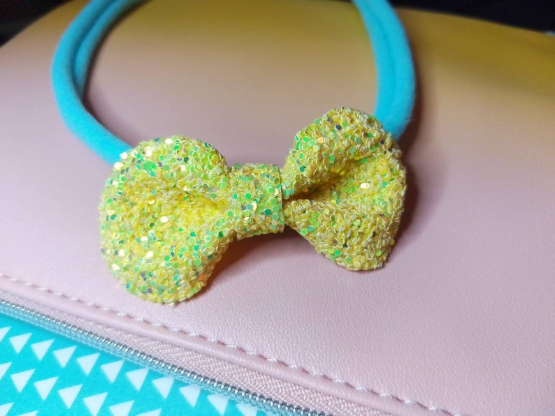 Small Yellow Glitter headband