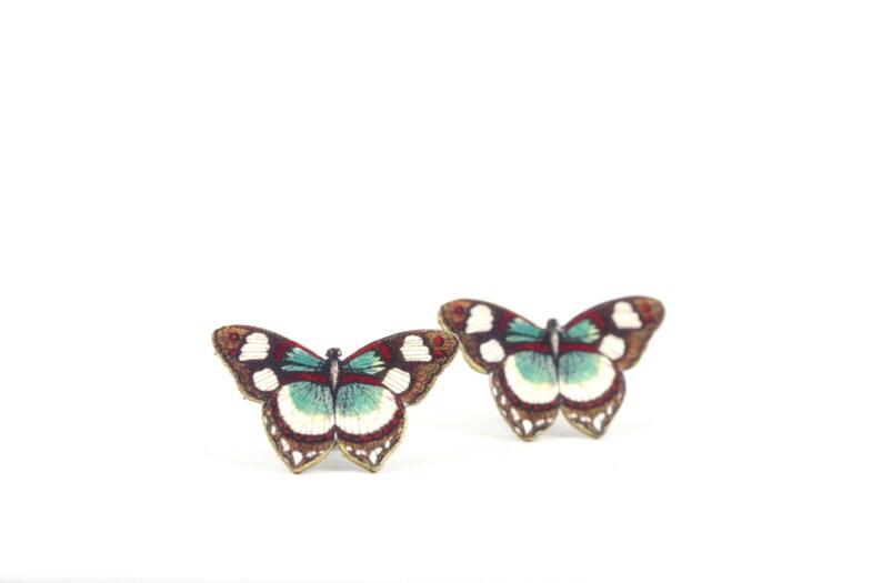 Marrón Encogimiento Pendientes Bug Post Joyería Postes Joyas Niños Rojo Mariposa Puestos Chicas Poco Plástico Para N8vmwOn0