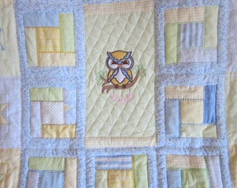 Quilted Owl Baby Blanket