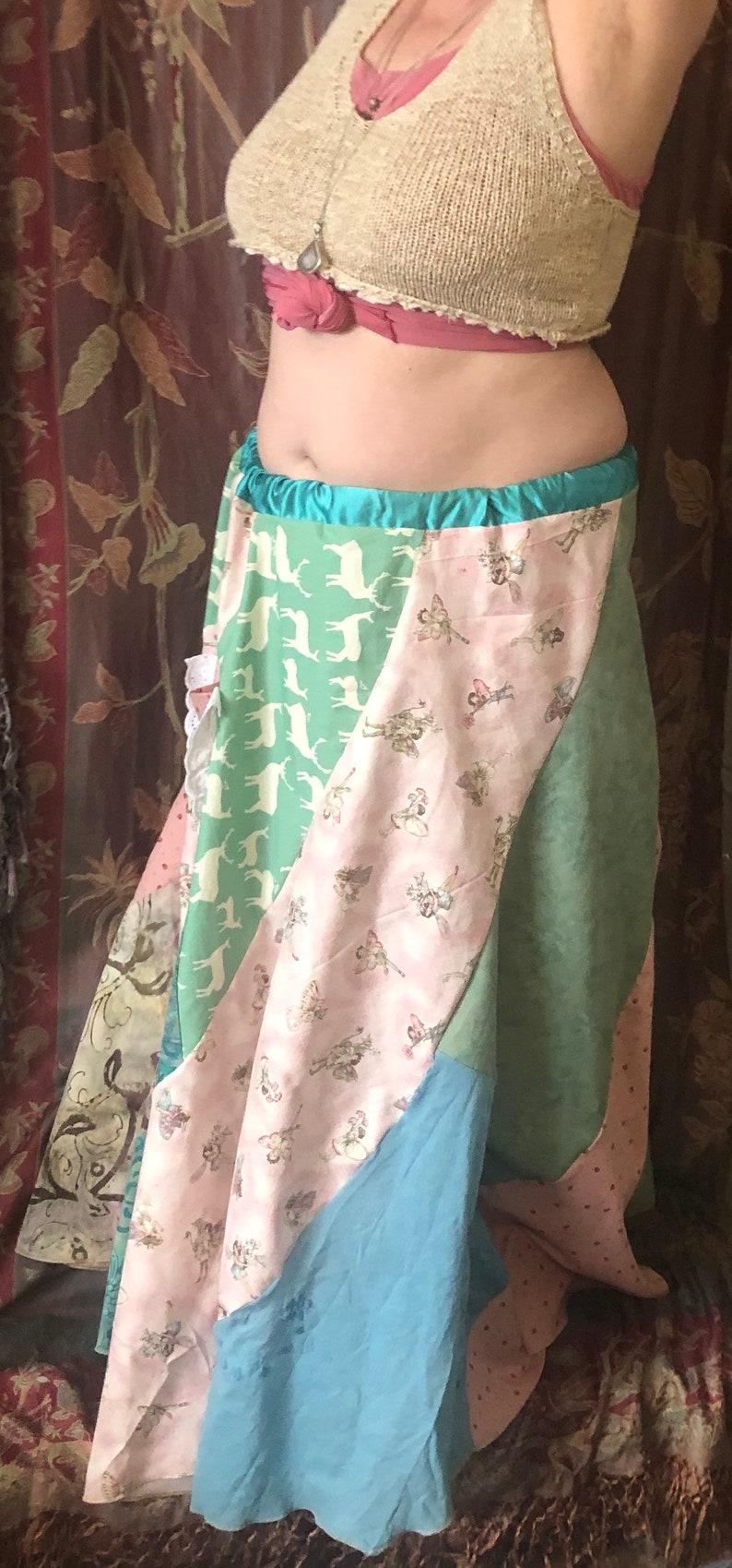 Woodland  Forest Fairy Spring Swirl Skirt ML