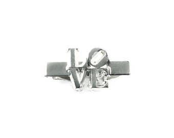 Robert Indiana LOVE Tie Clip Vintage