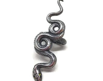 Snake Ring | Sterling Silver | Serpent Ring | Silver Snakes | Medusa  | Goth Style | Victorian Style