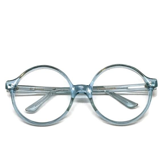 Large Round Eyeglass Frames Round Blue Frames Vintage | Etsy