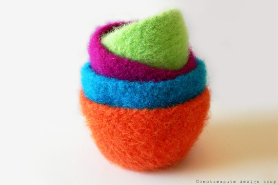 Crochet Pattern Felted Nesting Bowls Instant Download Etsy