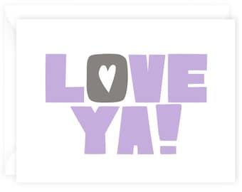 Love Ya! - Valentine's Day Card A2