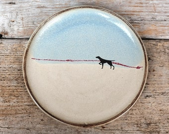 Rustic Dog Side Plate