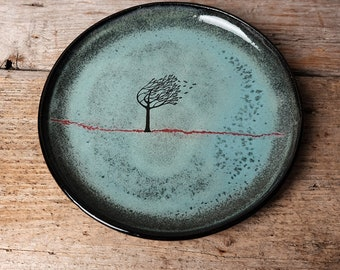 Green Windy Tree Side Plate