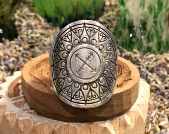 Explore Mandala Ring Fully Adjustable Silver Boho Festival Urban Hippie