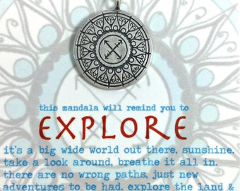 Explore Hand Drawn Mandala Pendant