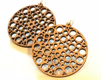 Wood Effervescence Earrings - Eco-friendly Fashion Besties, Sisters, Mom, LDR, 5th Anniversary
