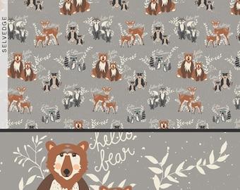 Hello Bear: Oh, Hello Fog Fabric, 1 yard // Art Gallery Fabric //Fishing // Ocean // Mister Domestic