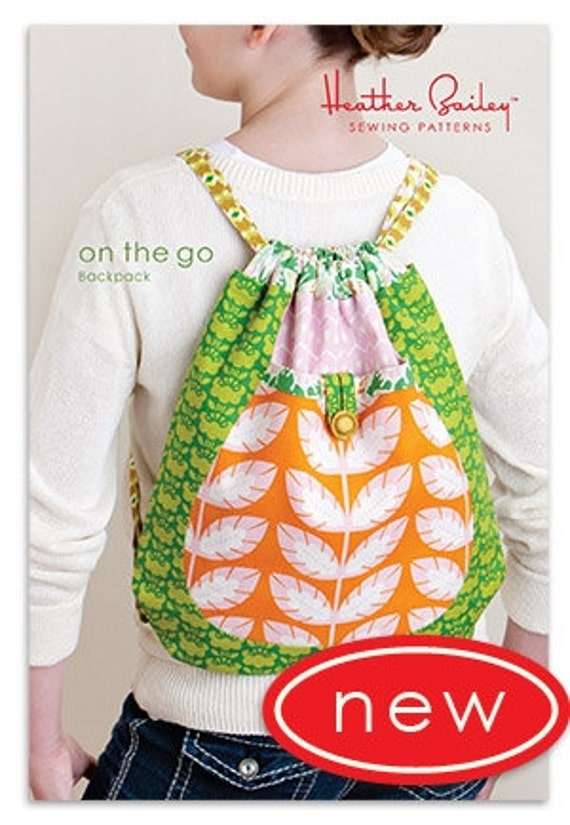 Heather Bailey On The Go Backpack Sewing Pattern Free Etsy