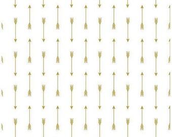 Riley Blake Gold Arrows Fabric, 1 yard