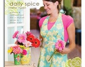 Heather Bailey Daily Spice Halter Apron Sewing Pattern, FREE SHIPPING