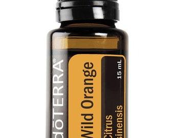 DoTerra Wild Orange Essential Oil 15 ml // Certified Pure Therapeutic Grade // Supplement // Home Remedy // Aroma Therapy // Citrus //