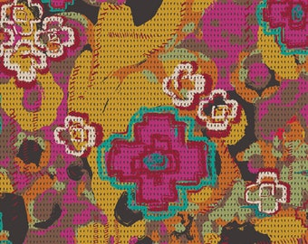 Nuncia Flowers Everywhere Intention Fabric, 1 yard // Art Gallery Fabric // Pat Bravo