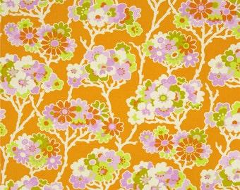 Heather Bailey Lottie Da Sprig Tangerine Fabric, 1 Yard