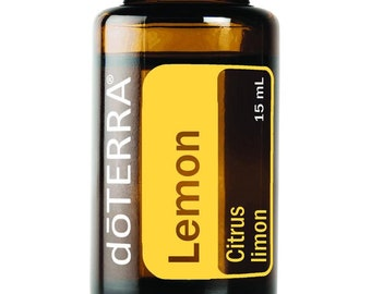DoTerra Lemon Essential Oil 15 ml // Certified Pure Therapeutic Grade // Supplement // Home Remedy // Aroma Therapy // Citrus //Limon