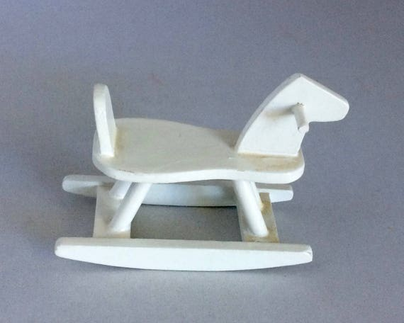 Dollhouse Mini Rocking Horse White Horse Melissa And Doug Dollhouse Furniture 1 12 Scale Wooden Miniature Child S Toy