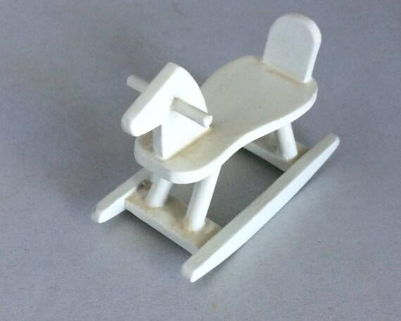 Dollhouse Mini Rocking Horse White Horse Melissa And Doug Dollhouse Furniture 1 12 Scale Wooden Miniature Child S Toy