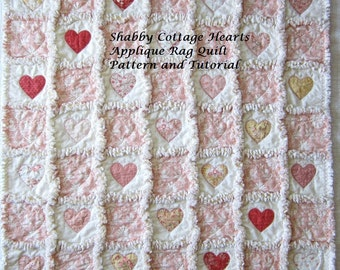 Applique Tutorial | Quilt Pattern | PDF Pattern | Instant Download | Heart Pattern | Charm Pack Pattern | Digital Download
