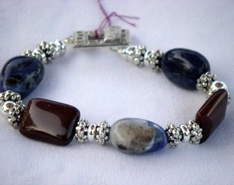 Sodalite and Moakite Bracelet