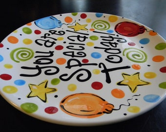 Birthday Plate - It's Your Special Day 10 Inch Ceramic Plate