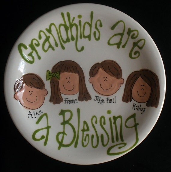 Personalized Handpainted 13 Inch Oval Girlfriends Platter Great Gift