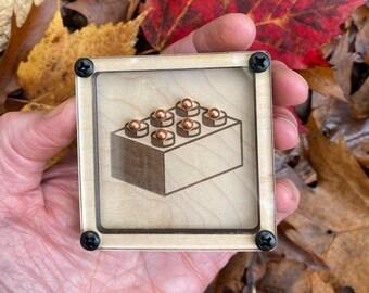 Marble Puzzle Game - Building Brick Block Design