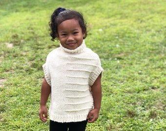 Knitted Poncho, Wool Poncho, Cowl Neck, Christmas Gifts, Granddaughter Gifts,