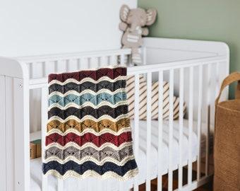 Knitted Wool Blanket, Baby Blanket, Baby Christmas Gift,