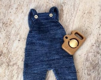 Overalls, Knit Baby Clothes, Christmas Gifts, Newborn Gift,