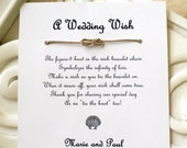 Seaside Wedding - A Wedding Wish with a Seashell - Infinity Knot Wish Bracelet Wedding Favor Custom Made for You