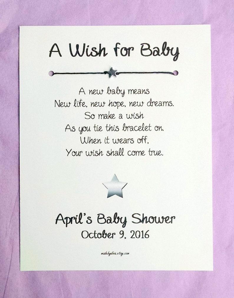 best website 7b25b ea47e A Wish for Baby Little Star Theme Wish Bracelet Party   Etsy