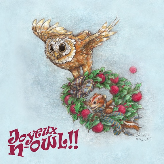 Owl and Chipmunk's Christmas Downloadable PDF