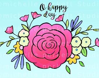 downloadable images, printables, digital stamps, floral,  flowers, wedding, Easter, birthday,  cardmaking, scrapbooking, papercrafting