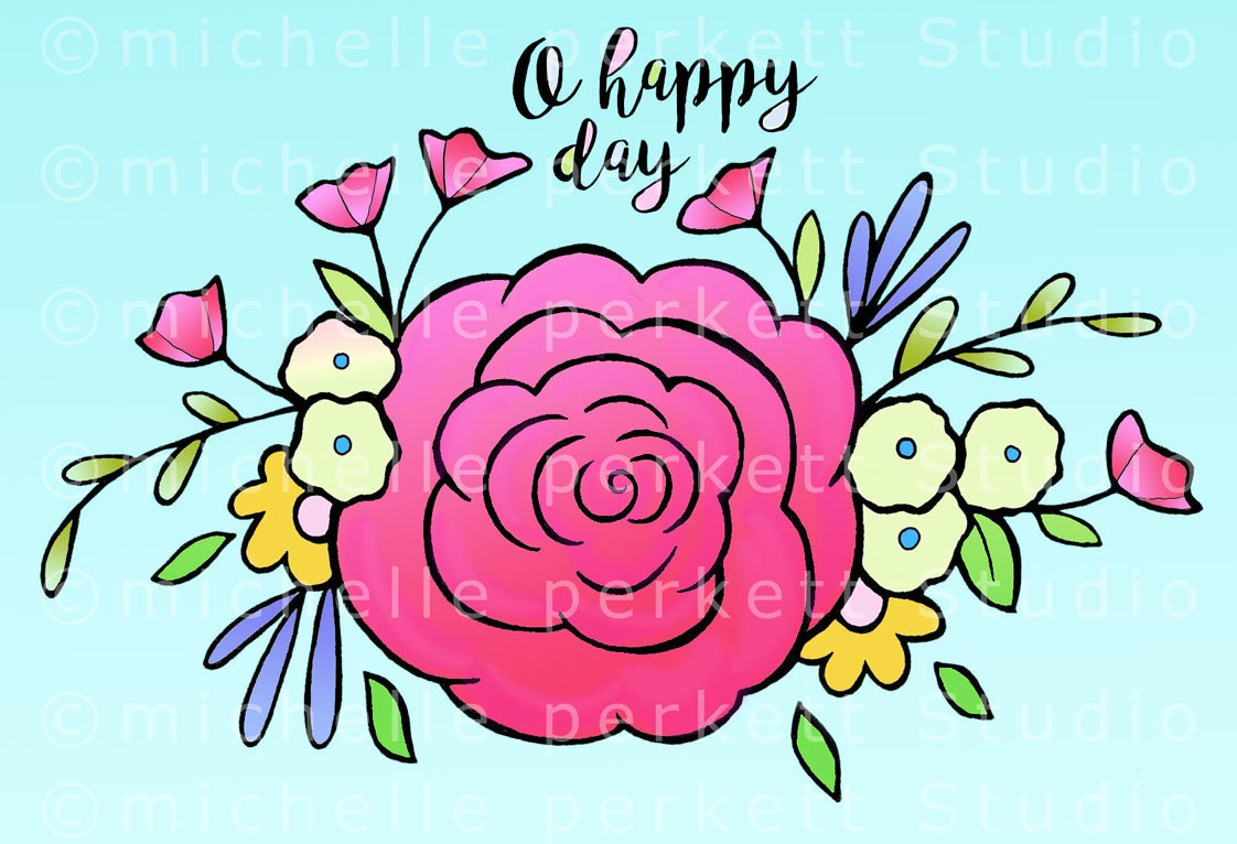 downloadable images printables digital stamps floral | Etsy