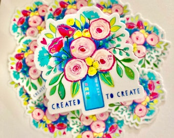 Christian sticker art create art vinyl colorful floral