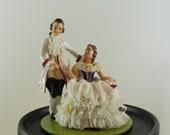 Antique signed volkstedt Dresden porcelain figurine