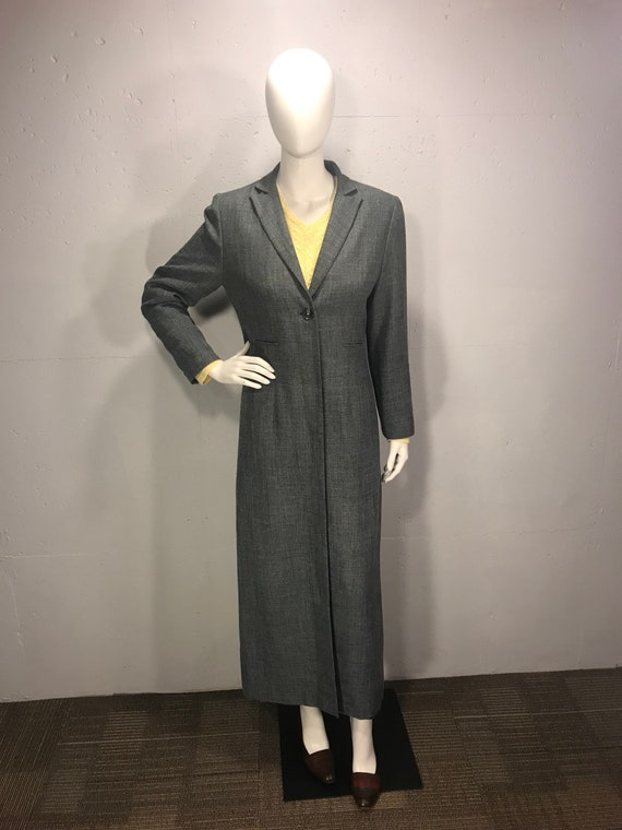large discount good looking discount for sale 90s long Trench coat, Larry Levine Suites size 10 duster,
