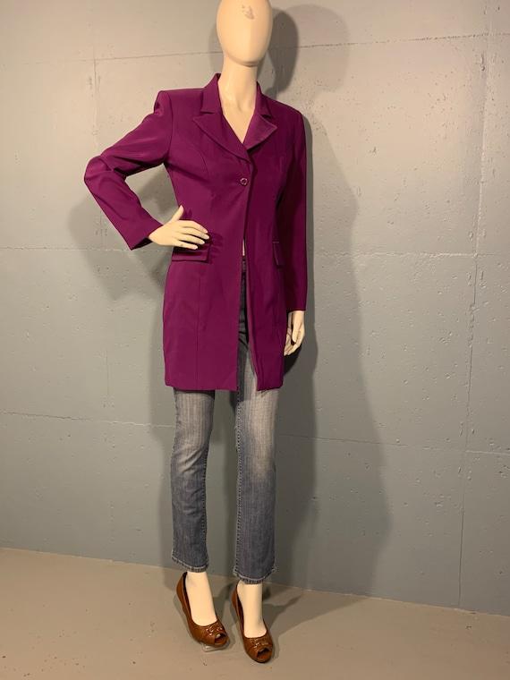 80s Gantos purple oversized jacket power blazer fi