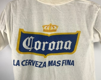 dc05722f7c358 Vintage Corona T Shirt 80 s Cerveza Mas Fina SZ M Authentic